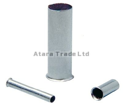 2,5 mm2 (AWG 14) UNINSULATED END SLEEVES / 500 pcs. Bag